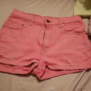 Levi distressed Jean shorts